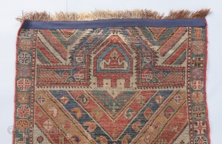 An authentic Caucasian village prayer rug with lovely color and very good age. This one's got some zest!! Please ask for more info. 