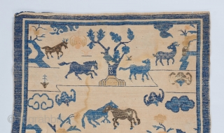 """Chinese rug. 6'9"""" x 3'10"""".   Visit our website for a wide range of rare collectible pieces :  www.bbolour.com"""