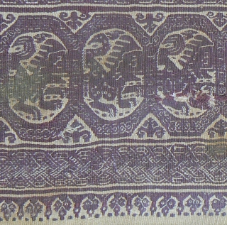 Antique Coptic Textile from the 4th-6th century. The textile is in excellent condition, and it's slightly more burgundy-colored that shown in the photos. In a gold painted wooden frame. I haven't opened  ...