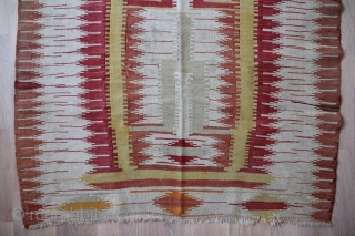 Karapinar Kelim around 1880 Wool on wool, Natural color old speak good condition  extremely rare specimen Size: 148 x 102 cm