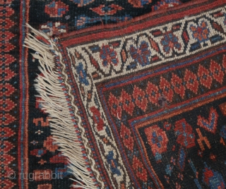 Small Kurdish rug with human figure (and one half figure)and flower motifs, maybe Bidjar. phantastic natural colours, good pile, no restaurations, no moths, wonderful soft wool, a unique piece of folk art,  ...