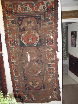 Antique Caucasian Memling Gul Rug. Fantastically smashed but...