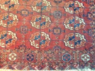 Tekke Turkmen main carpet, apx 8'x12'