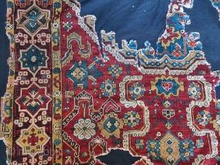 so-called 'Golden Triangle' group carpet. Woven arguably in either Northwest Persia or Eastern Anatolia at a time when the border between these two areas was more fluid, circa 1700? 