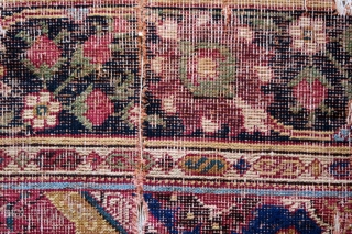 Indian fragments, Mughal era but perhaps from a Decani Carpet, circa 1700 or earlier.