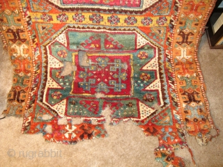 East Anatolian Kurdish Rug, Crazy Colors, not for the conditionally challenged