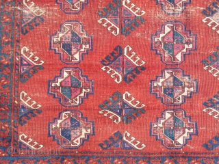Very Fine Ersari or some other sort of Eastern Turkmen rug, lots of silk and a great vibrant madder red reminiscent of Salor and Saryk pieces. flat back