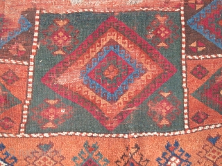 East Anatolian Rug Fragment with vibrant color.