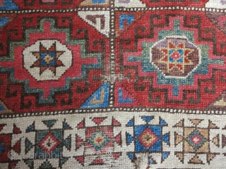 Central Anatolian Memling gul rug fragment, very nice colors.