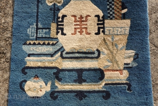 ANTIQUE PICTORIAL CHINESE FINE RUG