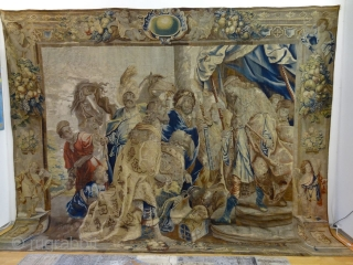 Antique 17 Centuy Flemish Tapestry, 385 cm  x 485 cm , All Vegetable Dyed Natural Colors, Softest Wool and Silk Quality