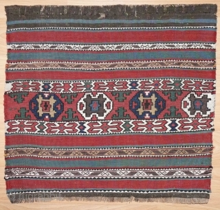 Unusual Shasavan bagface with excellent colors in very good condition, 19th c