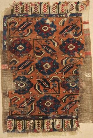 Karapinar yastik fragment, 18th c, a very rare piece