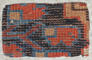 Kurdish rug fragment, beautiful and rare (compare Burns, Kurdish carpets), 180 x 95cm, certainly great colors, mid to early 19th, mounted and ready to be hung