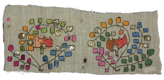 Textile fragments from Greece/Turkey --- 19/20th century --- Linen, silk, metal thread --- average size about 10-15 x 15-25cm. Sold by piece or as a collection (about 20 pieces). Please inquire for  ...