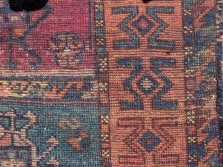 "East Anatolian small rug 5'5"" by 2'11"". Minor lossees to the edges, small area of re-piling visible in the detail slide. This piece has ann old back, possibly early 19th century."