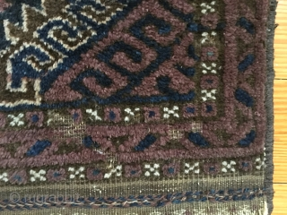 Baluch mat - shiny wool, meaty pile, scattered moth.  $95/BO