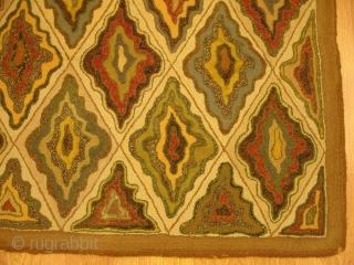 2' 9'' x 4' 4'' - c. 1910 - American Hook Rug - $900