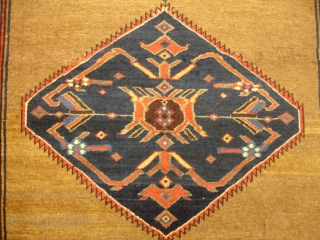 5' x 7' 7'' Camel Hair Bijar - 19th Century