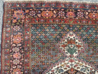 Handsome 19th Century Bakhtiari - 4' 6'' x 6' 10'' - with great color and great condition.  This is truly one of the great Bakhtiari's.