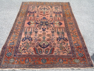 4' 6'' x 7' 2'' c. 1910 Sarouk - Great condition.  Soft.  Good colors.  $2,500