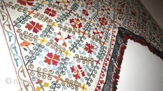 Antique Buchara Uzbek Suzani. Beautiful chain stitches, and natural colours. The size is: 157cm X 240cm. Very good condition. Offered very reasonable price.