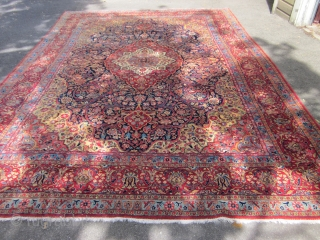 MERINO WOOL KASHAN IN SUBERB CONDITION  8 FT 4 INCHES X 12 FT 6 INCHES