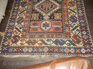 ANTIQUE SHIRVAN -ORIGINAL ESTATE CONDITION - NO REPAIRS - 4 X 12 - NICE AND STRAIGHT