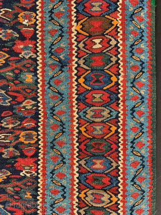 "Senneh Kilim in good overall condition - 1.93m x 1.07m (6' 4"" x 3' 6"")."