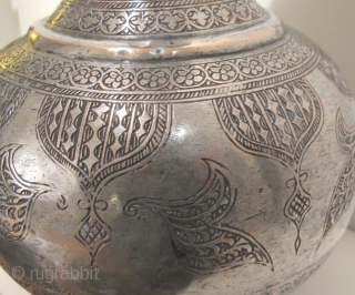 Bukhara Ewer. Late 19th C. Tinned copper. Height 34 cms. Weight c. 2 kgs. Very good condition.