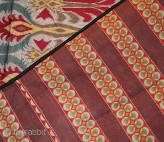 Russian Faux Ikat Panel. Circa 1880's. In excellent condition, with an interesting back panel as well. 222 x 192 cms