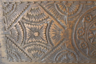 Anatolian Chest Carved Front Panel. 19th C. 33 cms x 1 m. A superb example in great condition.