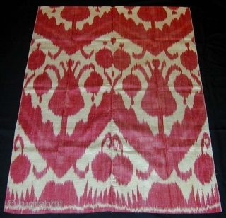 Ikat Panel. Late 19th c. Silk/cotton. Excellent condition. 102 x 76 cms