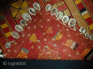 Old Banjara Ceremonial Cloth (Galla), India. Used to cover the nape of a woman's neck. 35x30 cms.