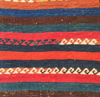 Eastern Anatolia kilim fragment….cm 41x57….over 100/120 y old, terrific natural colors, minimalistic pattern…..