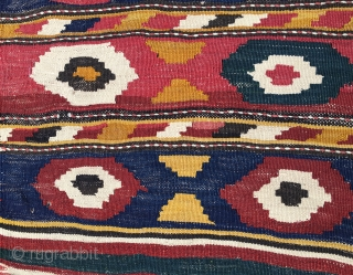 Caucasian Kazak Bordjjalu village mafrash. 100 years old or so. Wonderful deep natural saturated colors. A real rainbow jewel. In very good condition. Have time to kill? See my other postings pls:  ...
