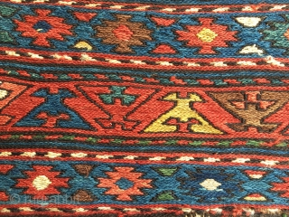 Shahsavan sumack mafrash end panel. Great colors, great pattern, great condition. A real beauty. Lovely natural saturated colors. Ask for more pics & infos.