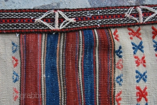 Kilaz ala cuval/storage bag. Cm 70x100 ca. Early 20th century. The Kilaz tribal group lives mainly in some villages north of Bergama, Western Anatolia. Have a quick look at my other pieces,  ...