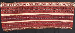 Tekke Ak torba. Cm 34x87. Antique, datable 1880, great cochineal, cotton, fine, precise drawing, good condition, beautiful.