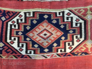 Anatolia storage bag or cuval. In very good condition. That light bluish might not be natural. Lovely piece.