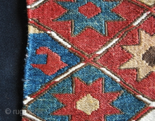 Shahsavan Star sumakh mafrash short panel. Cm 44x56 ca. end 19th century. Great dyes. Good condition. Ref 100Ck - See more pics on picasa: https://plus.google.com/photos/102077108999072625754/albums/5910070517907222593?banner=pwa Please see also my other items advertised on  ...