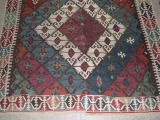 650CK ADANA ELIBELINDE KILIM - EASTERN ANATOLIA, TURKEY - CM 158X400 - IN TWO STRIPES - SECOND HALF 19TH CENTURY - WONDERFUL NATURAL DYES - GOOD CONDITION -  PLEASE HAVE A LOOK ALSO  ...