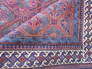 Beluch Main carpet c.1900 +-10 years.   288 x 164 cm  Realatively good cond. Small damage only and even half pile.Remnants of kelim ends.   Amazing natural colors!