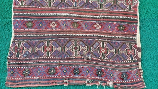 19 th West anatolian sumak cuval Size=130x90 cm