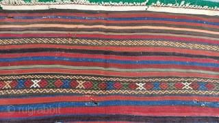 Color full konya karapınar striped kilim Size=317x144