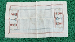 silk embroidered Ottoman fabric Size=56x34