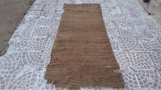19thc Anatolian Tulu whit camel wool.