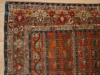 Antique North East Anatolian Sivas rug with Persian 'shawl' design. www.knightsantiques.co.uk   Circa 1880.  This outstanding and scarce rug was woven in the Turkish town of Sivas in the late 19th century. At this  ...