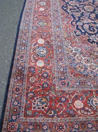 "Kashan Carpet  --  14'8""  x  10'2""  --  Perfect Condition  --  1930"