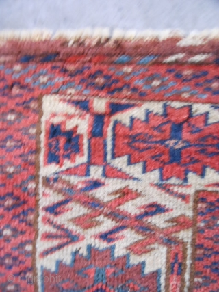 """Teke Turkoman fragment, 19th century, 10"""" x 18"""" (.25 x .46), rug was washed, great colors, good condition, plus shipping."""